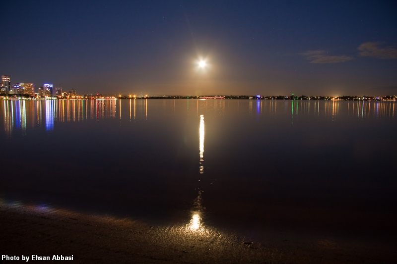 Swan River at night