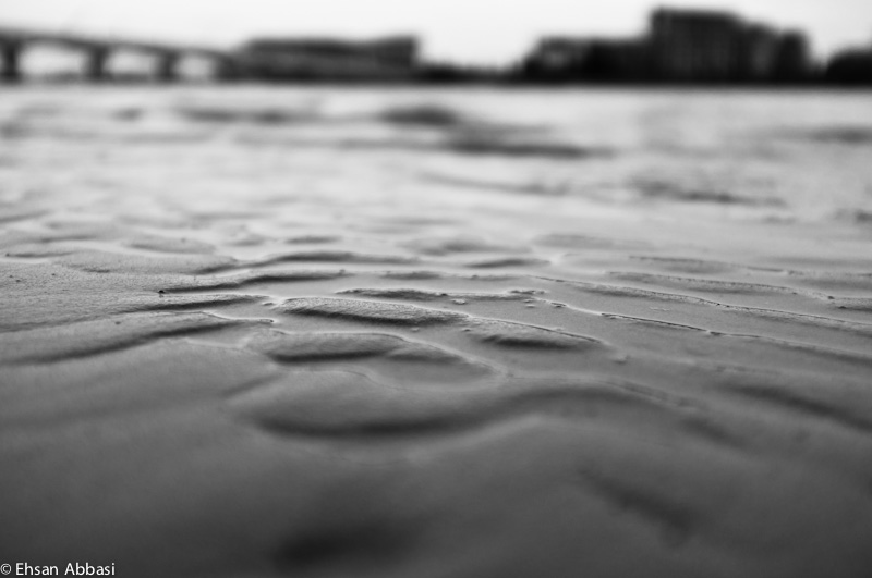 Texture of Wet Sand